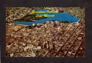 CA Aerial View Downtown Oakland California Postcard Lake Merritt Park Postard