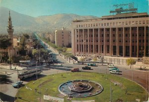 Syria Postcard Damascus Square of Sebea Bahrat