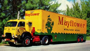 Mayflower World Wide Movers Vintage Standard View Postcard