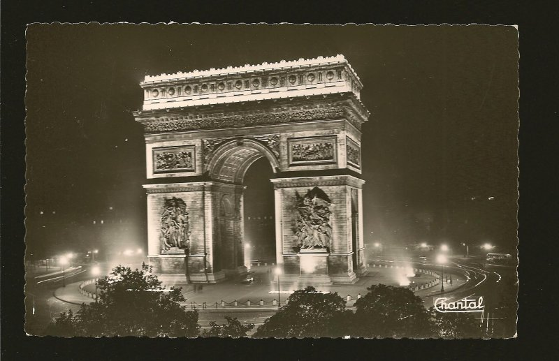 France Paris La Place de LÉtoile CHANTAL Real Photo Postcard