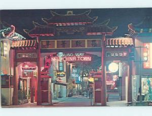 Pre-1980 Chinese NEON ENTRANCE TO CHINATOWN Los Angeles California CA hn2628