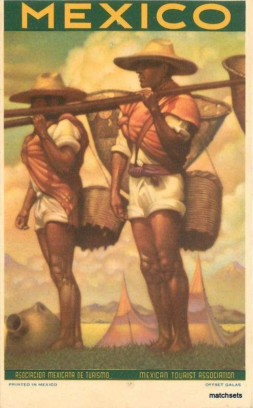 Rural Workers with Baskets artists Galas postcard 2462