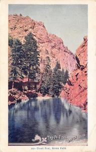 Seven Falls Colorado~Trout Pool~Shelter House~1905 Postcard