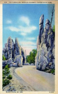 [ Linen ] US So. Dakota Black Hills - The Pinnacles (Vertical)