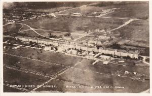 RP: Aerial View of Edward Hines Jr Hospital, HINES, Illinois, 1932