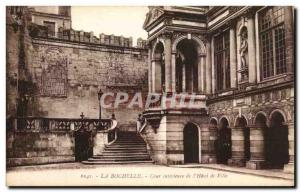 Old Postcard La Rochelle Inner Court of the City & # 39Hotel