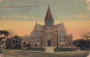 BROCKTON, Massachusetts; First Baptist Church, PU-1912