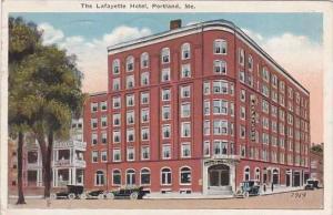 Maine Portland Lafayette Hotel 1921