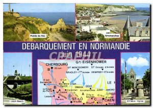 Postcard Modern cirquit Beaches Unloading the Battle of Normandy Army Pointe ...