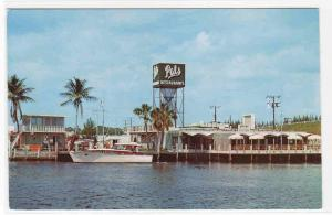Pals Restaurant Boat Cove Yacht Basin Deerfield Beach Florida postcard