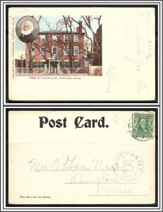 Maine Portland Home of Longfellow Undivided - [ME-130]