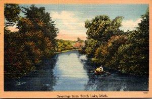 Michigan Greetings From Torch Lake