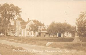 A69/ Monmouth Maine Me RPPC Real Photo Postcard c1910 ME Church Parsonage