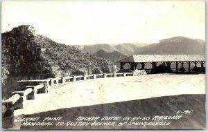 Becker Butte Lookout, Arizona RPPC Real Photo Postcard Highway 60 c1940s Unused