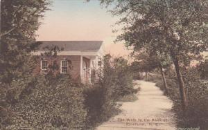Hand-colored, The Walk to the Bank of Pinehurst, North Carolina,00-10s