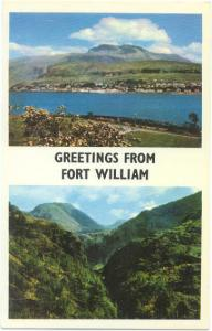 Greetings from Fort William:, Loch Linnhe and Ben Nevis, Scotland,Chrome