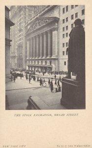 NEW YORK CITY, New York, 10-30s; The Stock Exchange, Broad Street