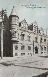 Fort Wayne IN 2 Men @ Door~Wayne Club Turret~July 4th Bunting~1910 CU Williams