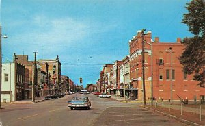 Henderson KY Business Section Storefronts Old Cars Postcard
