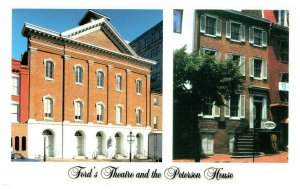Ford's Theatre and The Peterson House Where Lincoln Died Postcard PC972