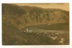 Bremm mit Klosterruine Stubben, DIE MOSEL, Germany, 1910-30s