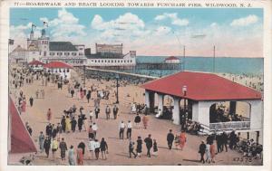 Boardwalk & Beach , WILDWOOD , New Jersey , PU-1930