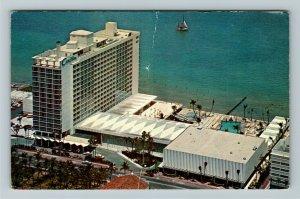 Miami FL- Florida, Carillon Hotel, Large and Luxurious Hotel, Chrome Postcard