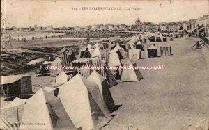 Sables d & # 39olonne Old Postcard Beach