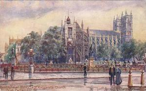TUCK 7033, Westminster Abbey, St. Margarets Church from Parliament St. London...