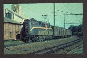 PA Pennsylvania Railroad Train 4930 Leaman Place Junction Penn Postcard RR