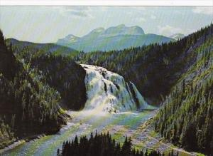Canada British Columbia Kinuseo Falls In The Grizzly Valley