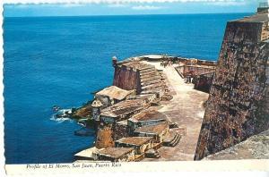 Profile of El Morro, San Juan, Puerto Rico, unused Postcard