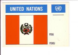 Peru, Flag, United Nations