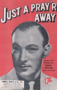 Just A Pray'r Away Teddy Foster 1940s Sheet Music
