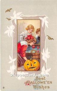 Halloween Postcard Old Vintage Post Card Series 345 B Unused