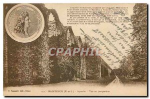 Old Postcard Maintenon E and L Aqueduct Perspective