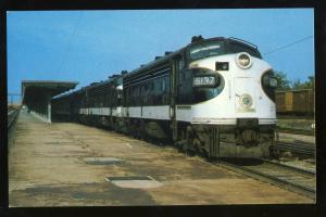 The Piedmont Limited Train Postcard, Southern Railway FP-7, #6137,Greensboro,NC