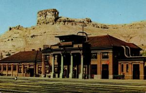 Wyoming Green River Union Pacific Depot and Castle Rock