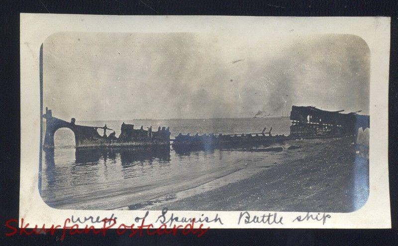 THE PHILIPPINES PHILIPPINE ISLANDS SPANISH BATTLESHIP SHIP WRECK WWI PHOTOGRAPH