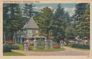 NORTHAMPTON , Massachusetts , 1930-40s; Laurel Park Entrance