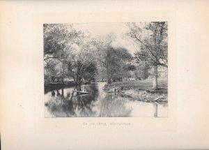 1896 On The Upper Wissahickon Philadelphia PA Photograph Photogravure Print