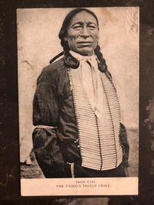 Mint RPPC Real Picture Postcard Native American Indian Chief Iron tail