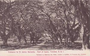 Entrance To St. James Barracks, Port Of Spain, Trinidad, B.W.I., 1900-1910s