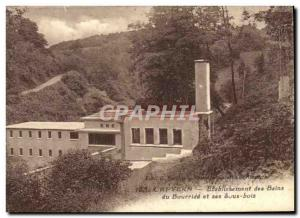 Postcard Old Cures Capvern baths establishment of Bourride and undergrowth