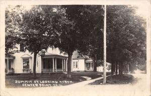 Center Point Iowa~Homes on Summit Street North~Victorian Porches~Bay~1917 RPPC