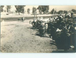 Pre-1950 rppc CHARRO HORSEMEN Country Of Mexico i3657