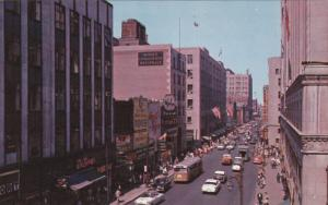 St. Catherine Street, Cars, Montreal, Quebec, Canada, 40s-60s