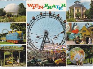 WIEN, Austria, 1950s; Ferris Wheel & Bumper Cars