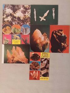 Lot 7 postcards rocks minerals