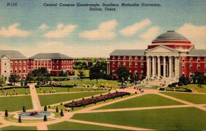 Texas Dallas Central Campus Quadrangle Southern Methodist University Curteich